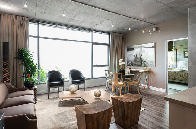 eclectic-dwell-loft-in-chocolate-beige-and-grey-3