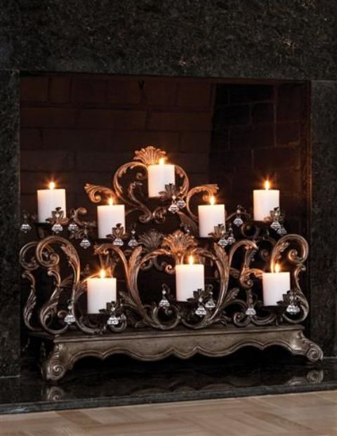 adorable-fireplace-candle-displays-for-any-interior-31