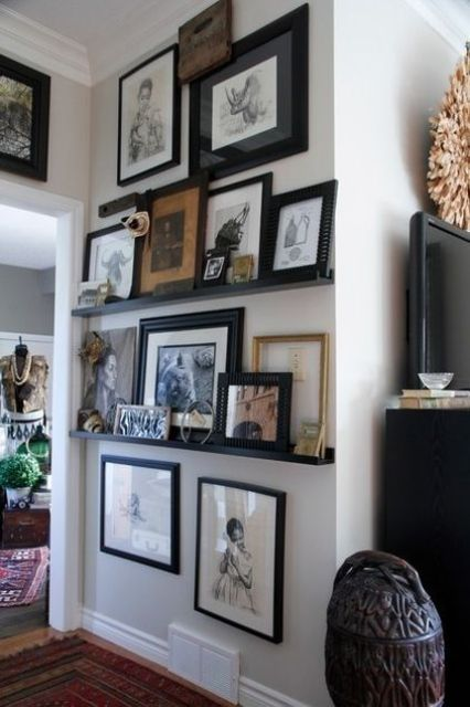 cool-ways-to-use-picture-ledges-for-home-decor-13