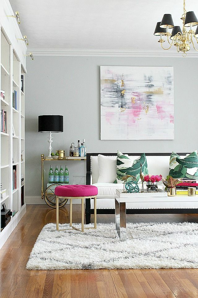 metallic-grey-and-bold-pink-home-decor-ideas-16