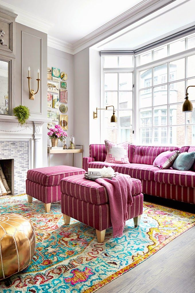 metallic-grey-and-bold-pink-home-decor-ideas-17