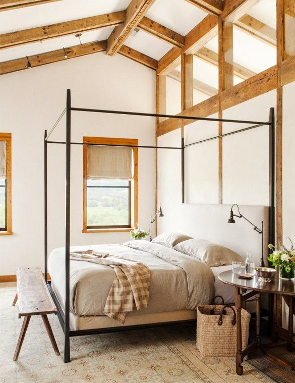 chic-bedroom-designs-with-exposed-wooden-beams-30