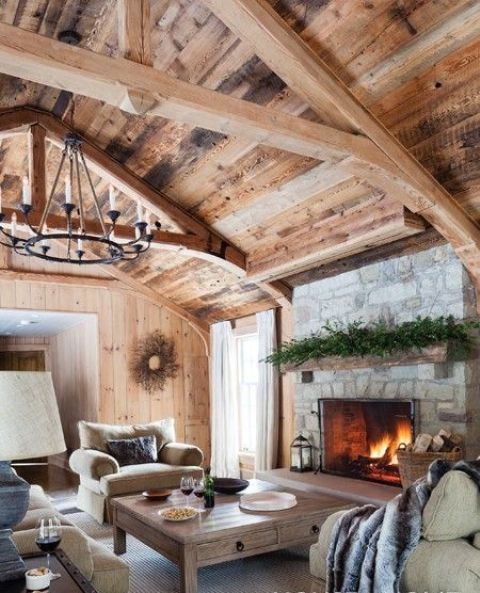 cozy-living-room-designs-with-exposed-wooden-beams-20