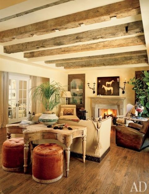cozy-living-room-designs-with-exposed-wooden-beams-23