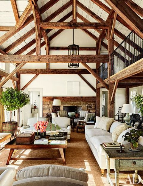 cozy-living-room-designs-with-exposed-wooden-beams-35