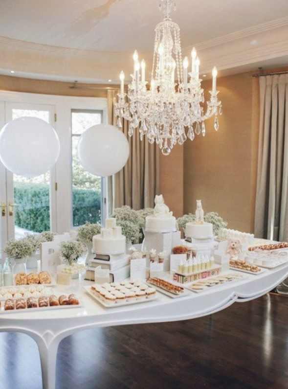 all-white-sweets-table-for-a-gender-neutral-baby-shower