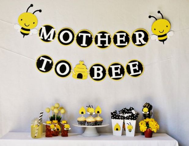 bee-themed-gender-neutral-baby-shower-decorations