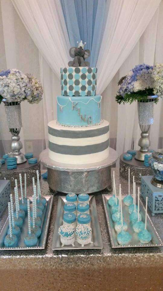 dusty-blue-dessert-table-for-a-boy-baby-shower