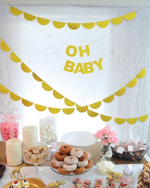 eye-catchy-dessert-table-for-a-modern-baby-shower