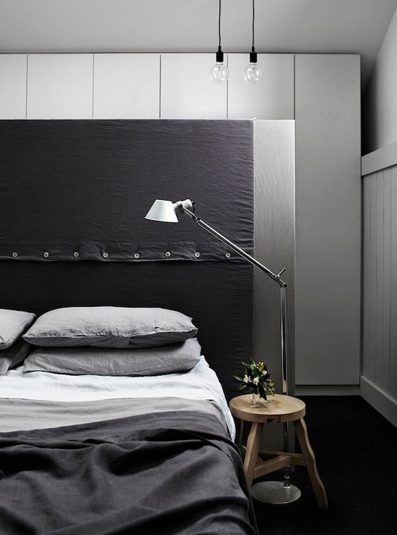 fabric-masculine-headboard-with-buttons