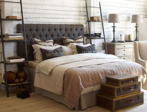 grey-tufted-masculine-headboard