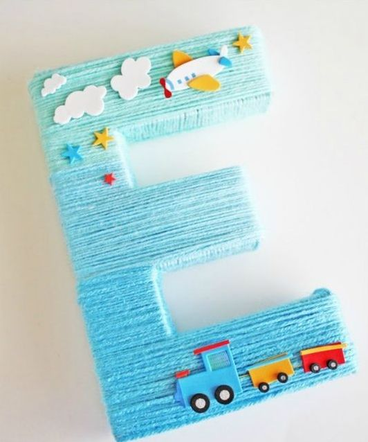 letter-decoration-for-a-boy-baby-shower