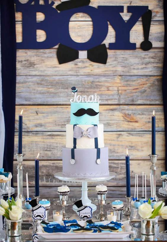 moustache-themed-dessert-table-for-a-boy-baby-shower