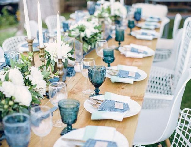 rustic-denim-table-setting-for-a-boy-baby-shower