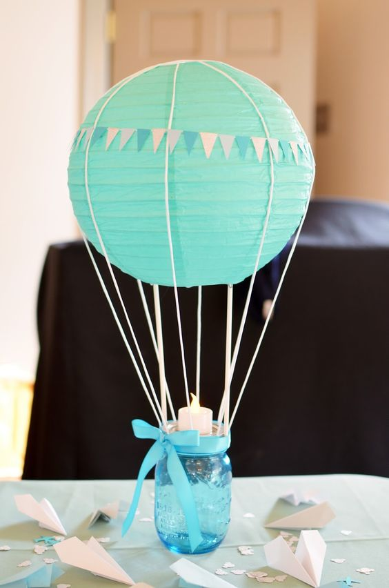 tiffany-blue-hot-air-balloon-centerpiece-for-a-boy-baby-shower