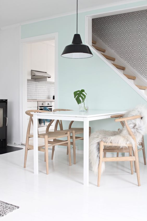 08-white-Melltorp-table-looks-cool-with-light-colored-wooden-chairs