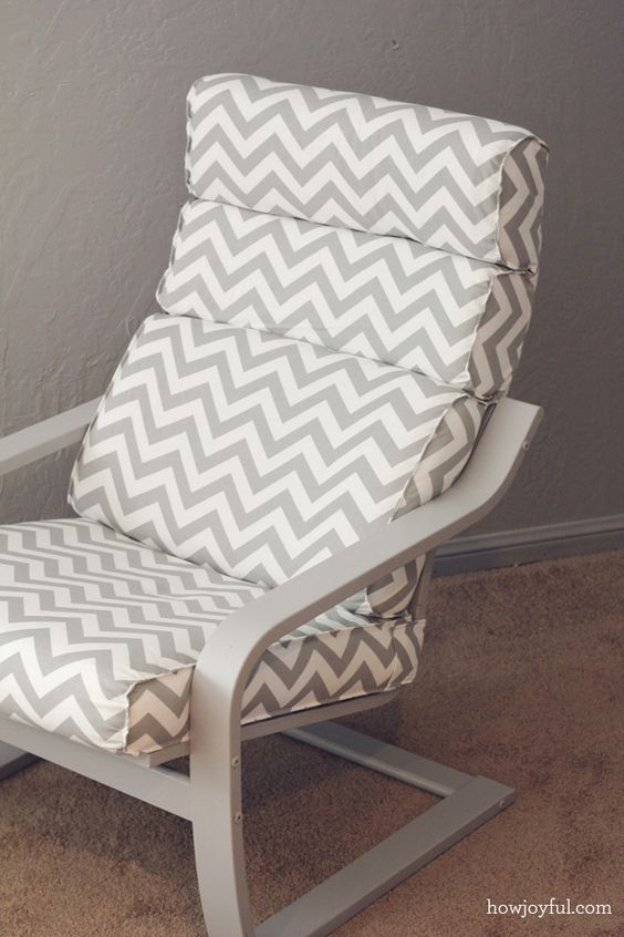 14-IKEA-Poang-hack-in-grey-color-and-with-a-chevron-cover