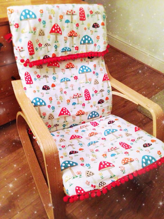 18-Poang-chair-reupholstered-for-a-nursery