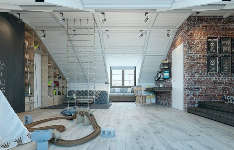 01-This-incredible-loft-like-room-has-rather-adult-design-but-is-still-amazing-for-a-little-boy-750x481