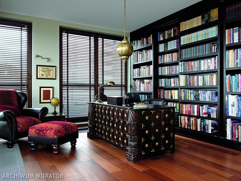 03-The-home-office-has-a-double-library-and-a-traditional-Indian-desk