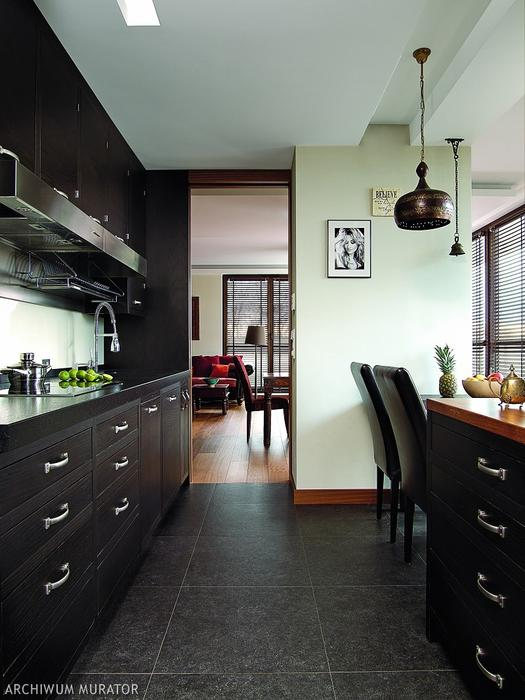 04-The-kitchen-is-clad-in-black-oak