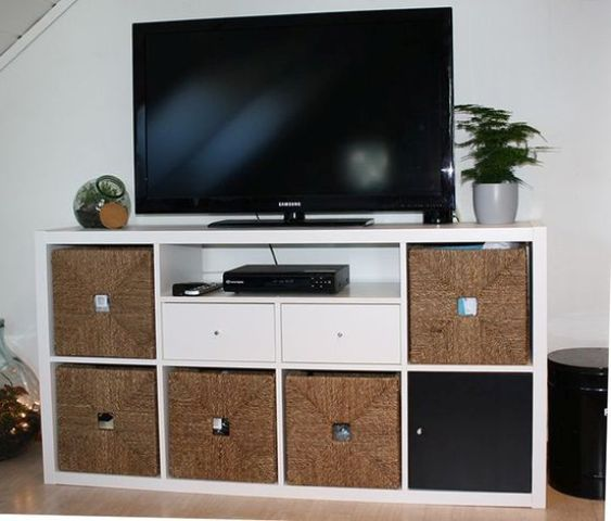 05-IKEA-Kallax-TV-unit-with-drawers