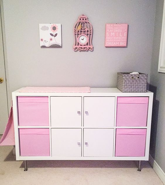 20-IKEA-Kallax-diaper-changing-table-in-pink-and-white