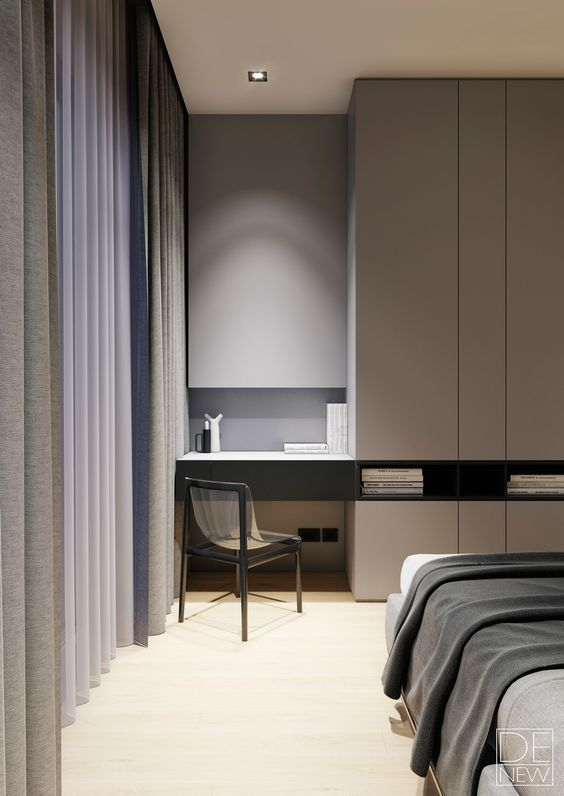 23-neat-modern-bedroom-with-a-tiny-workspace-nook