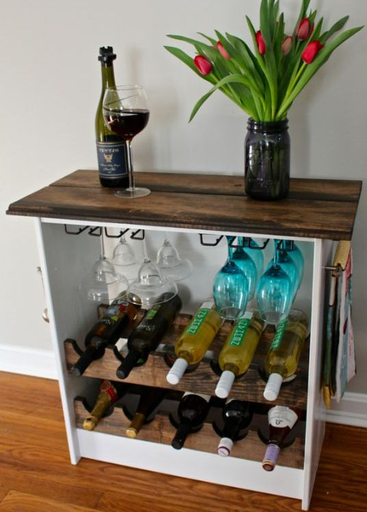23-wine-rack-clad-with-wood-frfom-a-Rast-dresser