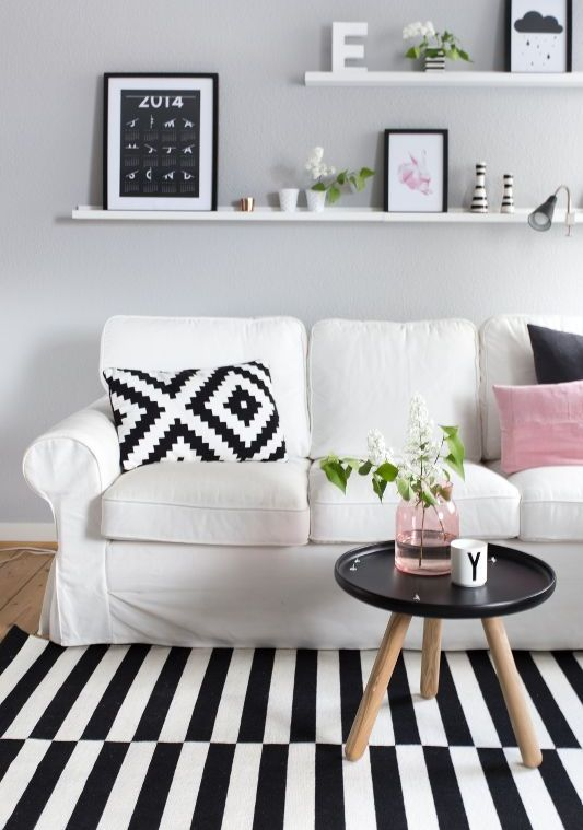 Ektorp-sofa-for-a-monochromatic-Scandinavian-living-room
