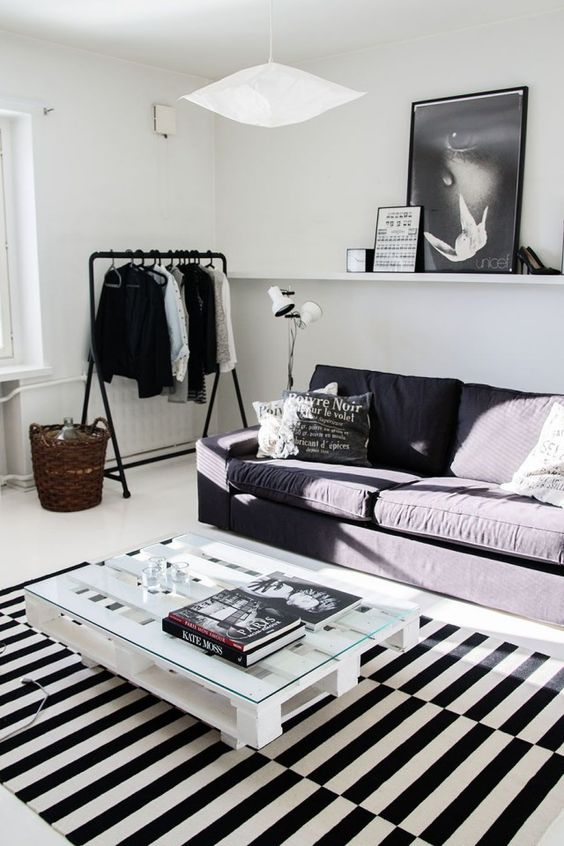 black-and-white-loft-with-Stockholm-rug