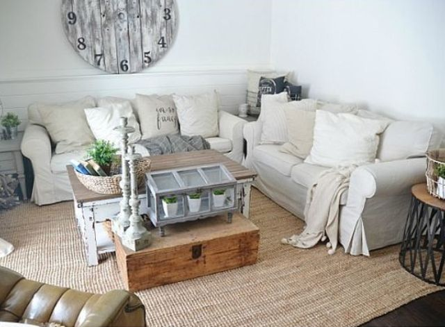 couple-of-off-white-IKEA-Ektorp-sofas-for-a-rustic-living-room