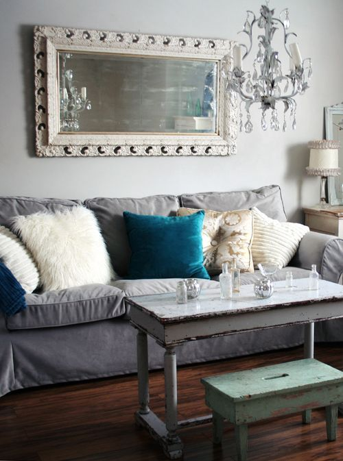 grey-Ektorp-sofa-for-a-shabby-chic-family-room
