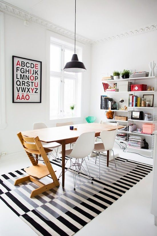 modern-dining-room-with-Stockholm-rug