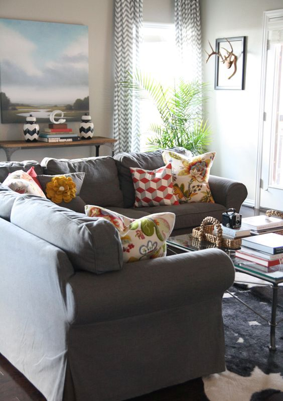 sectional-Ektorp-sofa-in-dark-grey