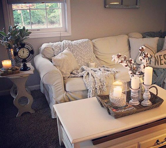 white-Ektorp-for-a-glam-farmhouse-living-room