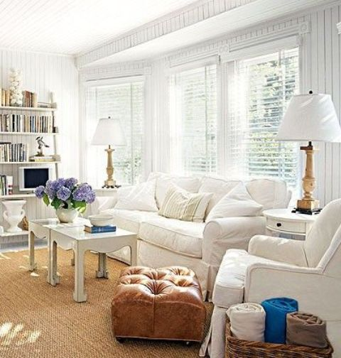white-Ektorp-looks-great-with-a-tan-leather-ottoman