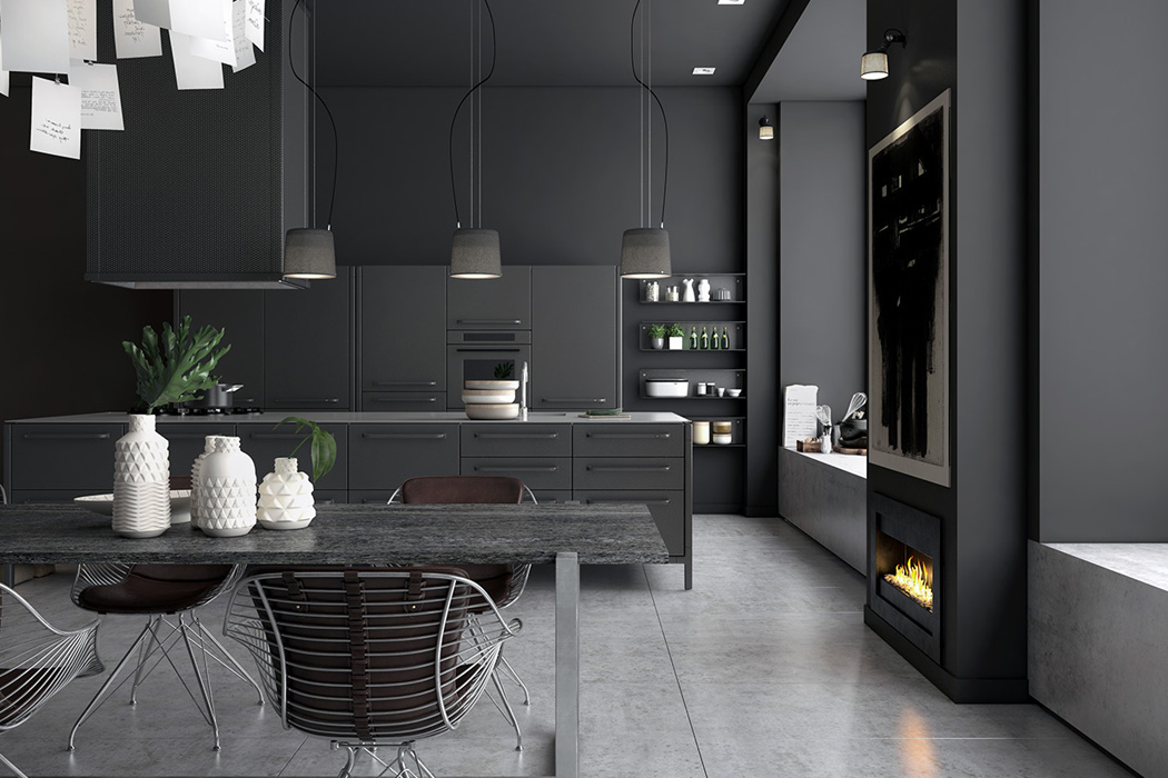 02-The-basis-is-a-Vipp-kitchen-with-black-metal-cabinets-and-appliances