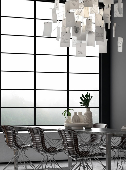 04-Over-the-dining-table-youll-see-a-love-note-chandelier-to-make-the-space-more-cheerful