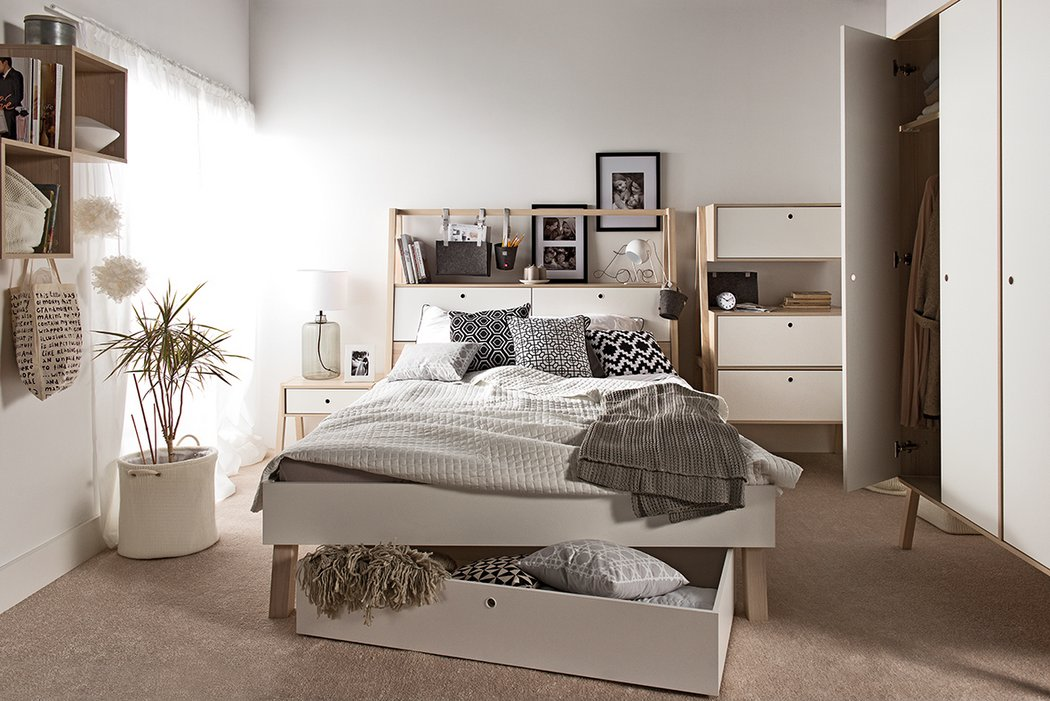 05-The-lofted-bed-comes-with-integrated-drawers-and-wardrobes-that-tuck-neatly-away