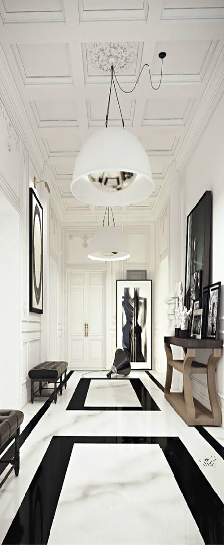 06-luxurious-marble-in-black-and-white-for-a-Parisian-style-apartment
