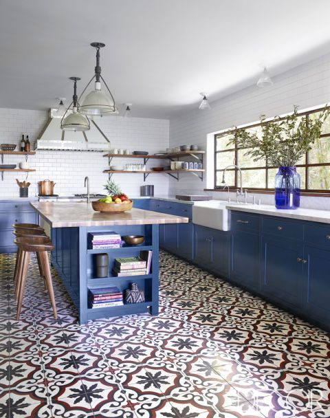 09-patterned-mosaic-tiles-attract-attention-in-this-blue-kitchen