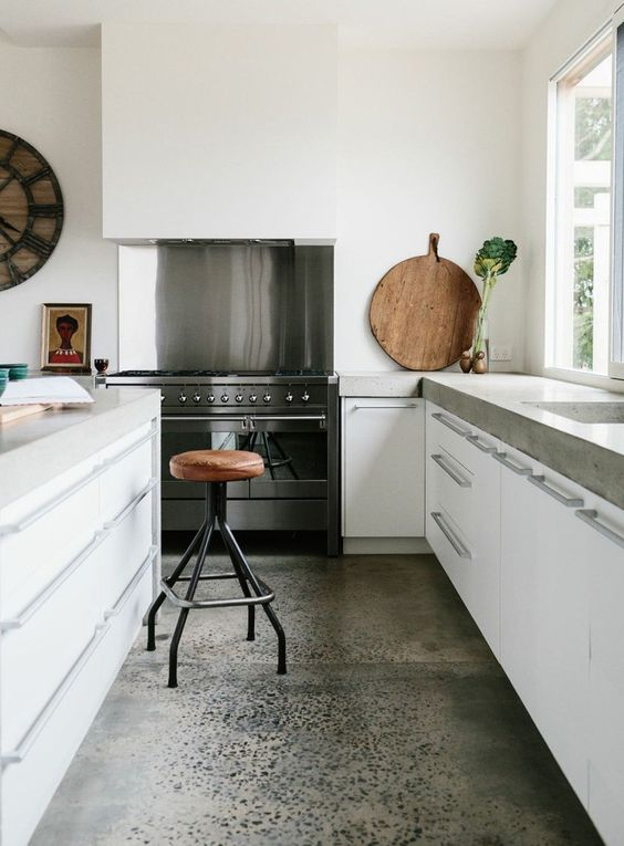 09-sleek-concrete-with-a-natural-look-makes-the-kitchen-more-stylish