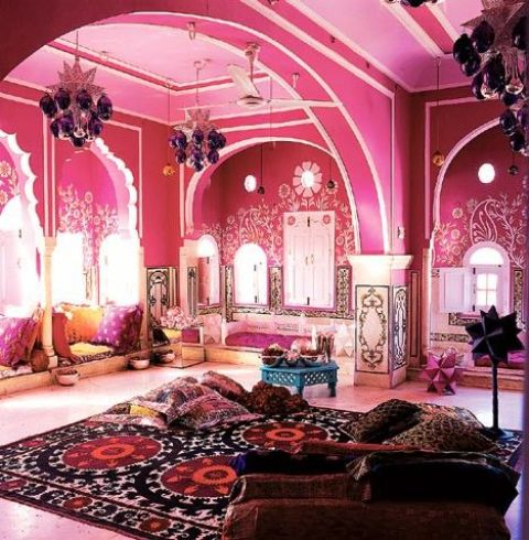 11-hot-pink-lounge-room-in-Moroccan-style