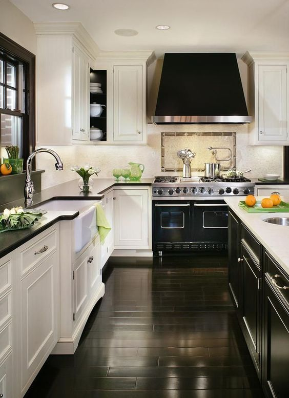 11-polished-black-wood-floors-complement-the-design-of-this-art-deco-kitchen