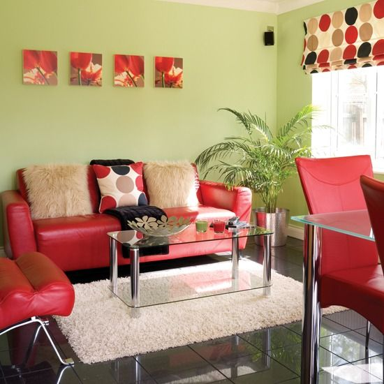 12-Bold-red-makes-a-statement-against-fresh-green-walls-in-this-living-room