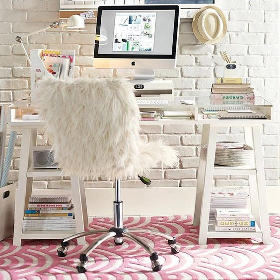12-white-acrylic-desk-with-storage-tops-in-front-of-a-white-brick-wall