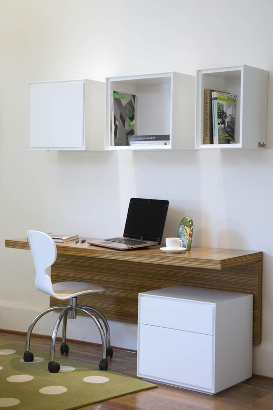 13-modern-study-space-with-a-wall-mounted-desk-and-open-box-shelves