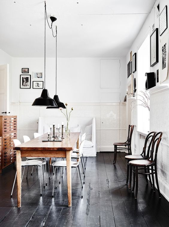 13-shabby-black-wood-plank-floors-are-perfect-for-a-Scandinavian-space