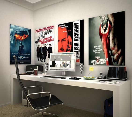 14-modern-study-area-with-posters-of-favorite-comics-and-films